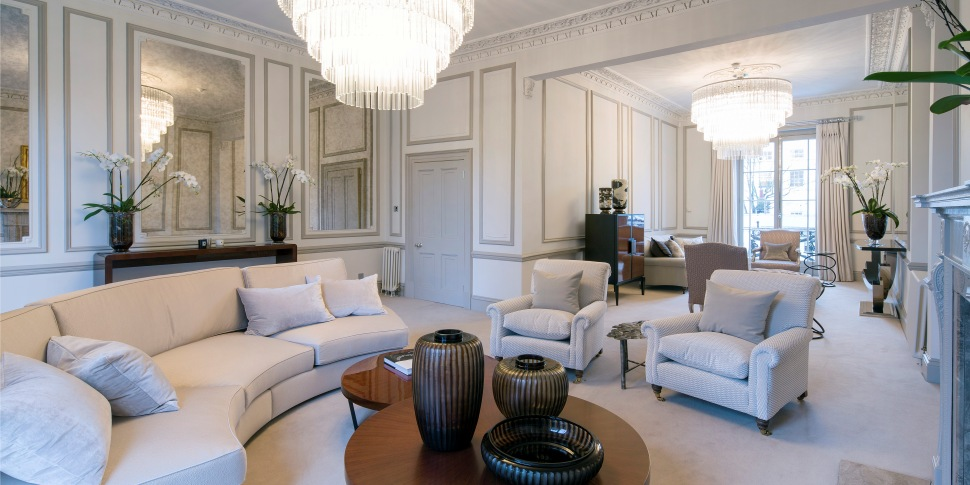 Reception room in the luxury Hanover Terrace