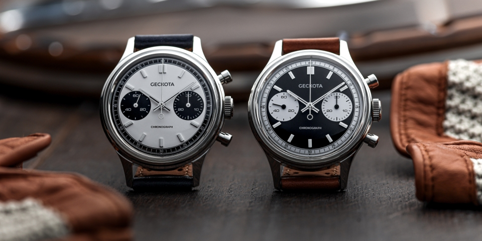 Geckota adds Vintage Racing Chronograph to W-02 range