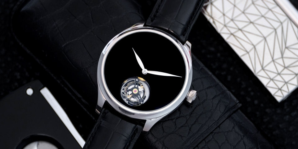 H. Moser & Cie. presents the Endeavour Tourbillon Concept Vantablack