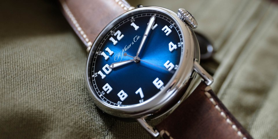 Back to the future with the Heritage Centre Seconds Funky Blue by H. Moser & Cie