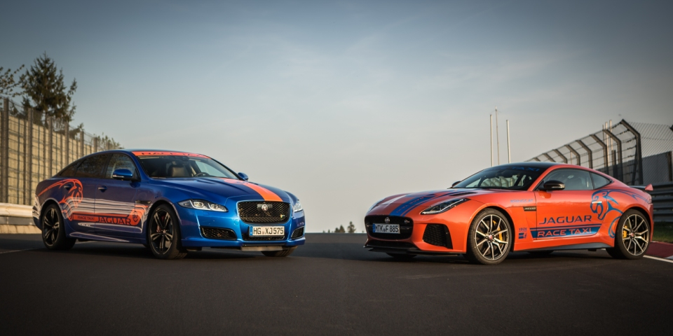The Jaguar Race Taxi experience for motoring enthusiasts