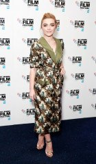 Florence Pugh wearing Burberry at the 60th BFI London Film Festival screening of Trespass Against Us